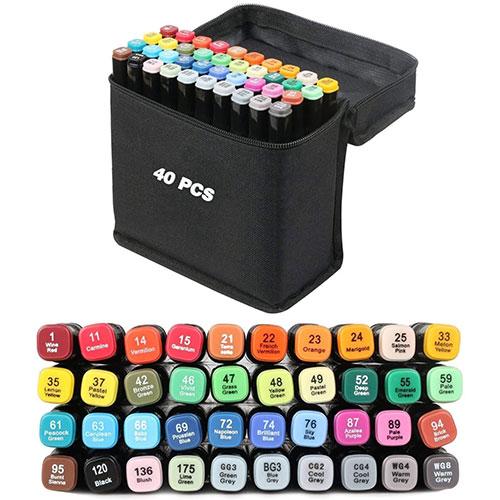 Feutre à Alcool Vallteng 40 Colors Art Markers