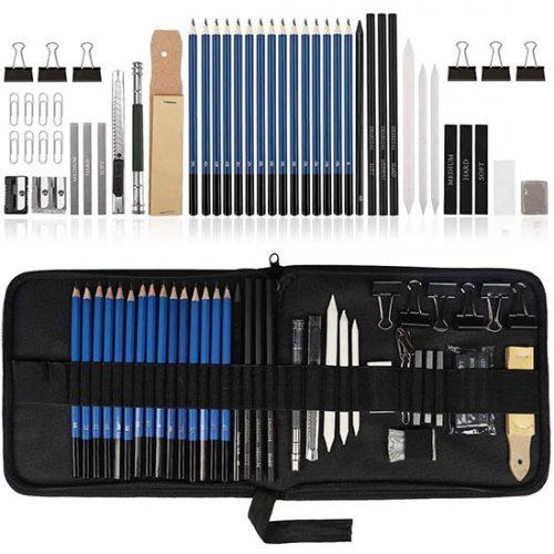 Kit de 50 Crayon de Dessin Ulifeme