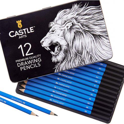 Lot de 12 Crayon de Dessin Castel Art Supplies