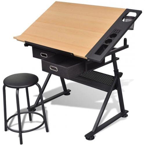 Table à Dessin Inclinable vidaXL